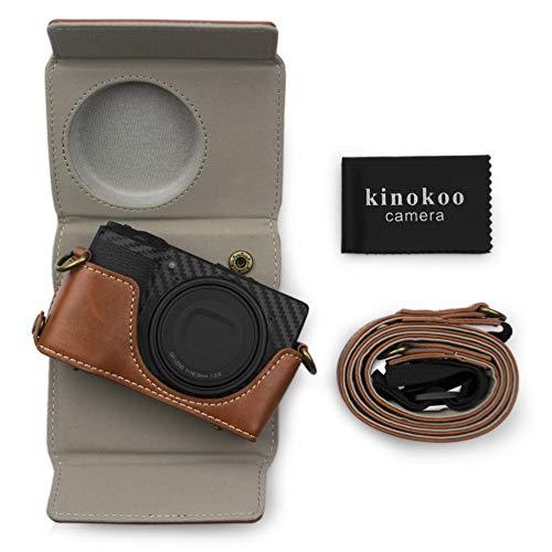 kinokoo Funda de piel sintética para Ricoh GR III Vintage Case Ricoh GR 3 (marrón)