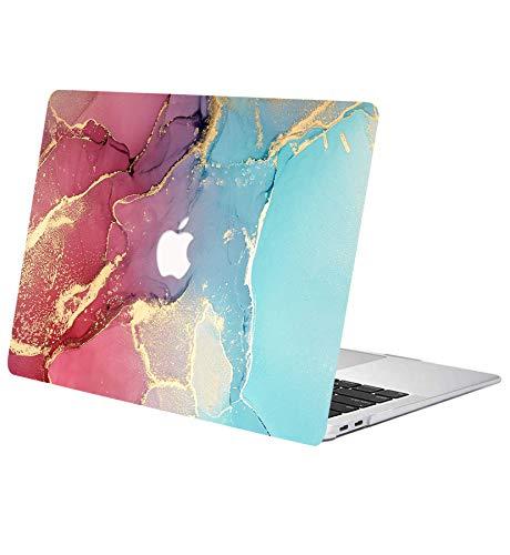 ACJYX Estuche para MacBook Air 13 Pulgadas 2017 2016 2015 2014 2013 2012 2011 2010 A1369 A1466 Carcasa Protectora De Plástico Funda Portátil para La Versión Antigua MacBook Air 13', Mármol Rojo