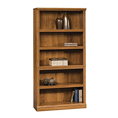 Five Shelf Bookcase in Abbey Oak Finish