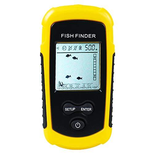 YIDOU 100M Sonda portátil LCD Buscadores de Peces Herramientas de Pesca Pesca Alarma Transductores Buscadores de Profundidad para Kayak Pesca en Hielo