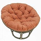 International Caravan Furniture Piece Rattan 42-Inch Papasan Chair with Micro Suede Cushion