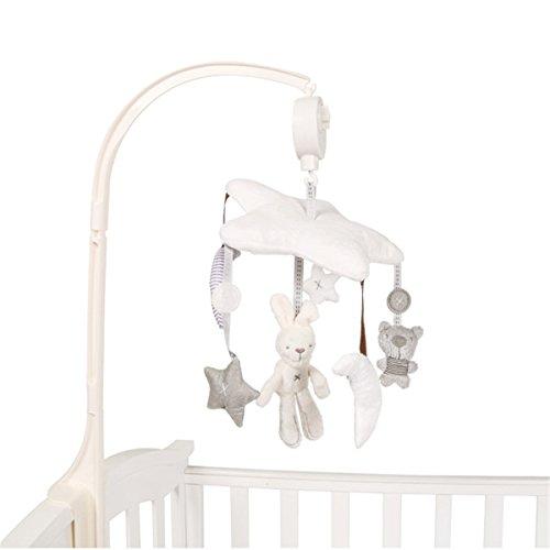 Spieluhr-Mobile mit niedlichen Einschlafhilfe mit Halterung fürs Kinderbett-Babybett Spieluhr für Baby-Neugeborene-Jungen-Mädchen