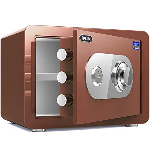 Cajas fuertes Caja Pequeña para El Hogar, Caja De Almacenamiento De Seguridad Resistente Al Fuego con Una Altura De 30 Cm, Gabinete De Oficina/De Oficina, 5 Colores (Color : Red)