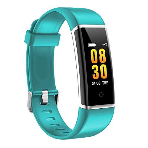 M-znsh Pantalla a Color Pulsera Inteligente con rastreador de GPS Conectado Contador de Pasos Monitor de sueño Cronómetro, Reloj de Ejercicio Impermeable, Rastreador de Ejercicios