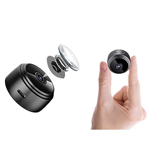 Mini Kamera, ablever Klein Akku überwachungskamera Innen WLAN Handy mit Bewegungserkennung und Speicher Aufzeichnung Mikro WiFi IP Kamera,Nachtsicht Wireless Nanny Cam