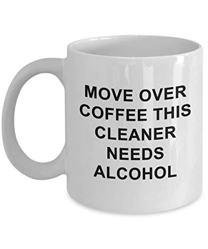 Thee Beker, Cleaner Koffie Mok Grappige Unieke Alcohol Beste Nieuwigheid Gift Idee Beker voor Hem Haar Schoonmaken Clean Wash Desinfecteren Maak Schone 11 oz Koffiemok