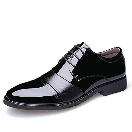 Unbekannt Schuhe Men's Business Oxford Casual Breathes Die Farbe im Britischen Stil wies Lackschuhe aus Lederschuhe (Color : Schwarz, Größe : 39 EU)