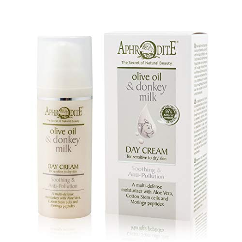 Aphrodite Soothing & Anti-Pollution Day Cream. Natural Moisturizer with Donkey Milk. Protects...