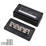 T Tocas - Cassetta per sbarre da 300 Amp con 4 borchie M10 per impieghi gravosi, design a blocco di distribuzione dell'energia postale 300 A, barra bus 12 V - 48 V DC