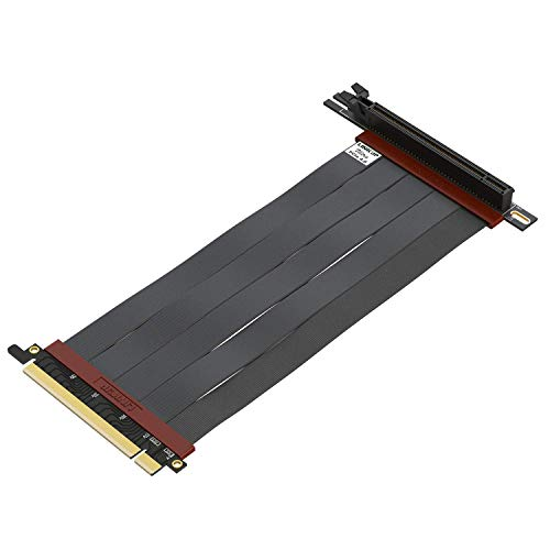 LINKUP - Ultra PCIe 4.0 X16 Riser-Kabel [RTX3090 RX6900XT x570 B550 Z590 Getestet] Geschirmte Vertikale Gaming-PCI-Express-Gen4-Montage┃Universal 90-Grad-Buchse {20cm} 3.0 Gen3-Kompatibel