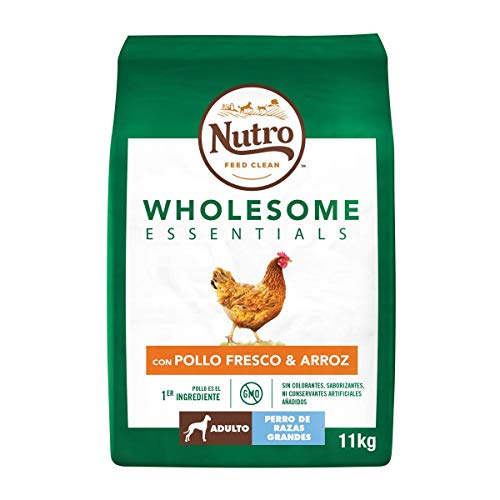 Nutro Wholesome Essentials Adultos Razas Grandes Pollo 11 Kg Pienso para Perros ✅