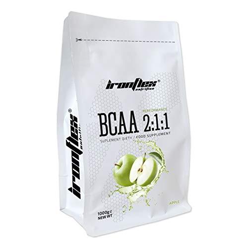 Iron Flex BCAA 2-1-1-1 Packung - Verzweigtkettige Aminosäuren im Pulver - Muskelregeneration - Antikatabolisch (Apple, 1000g)