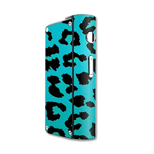 MightySkins Skin Compatible with Laisimo S3 200W TC mod Skins Sticker Vape Teal Leopard