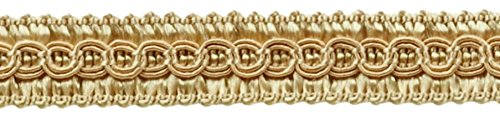 DÉCOPRO 13.5 Yards of 1/2 inch Basic Trim Decorative Gimp Braid, Style# 0050SG Color: Beige - A4, (41 Ft / 12.5 Meters)