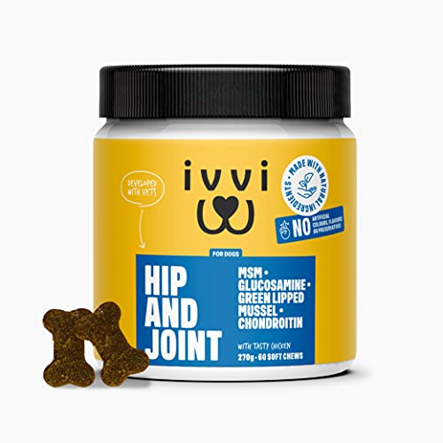 ivvi HIP & JOINT Supplements for Dogs with High Levels of Glucosamine for...