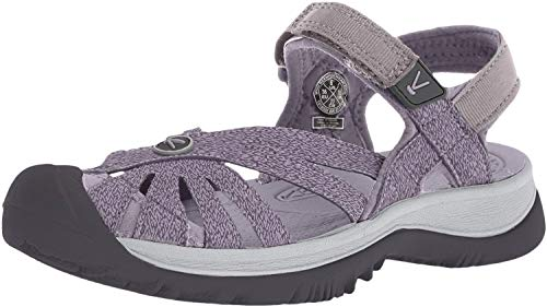 KEEN Women's Rose Sandal Slipper, Shark/Lavender Grey, 6 M US