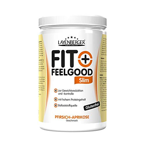 Layenberger Fit+Feelgood Slim Mahlzeitersatz Pfirsich-Aprikose, 3er Pack (3 x 430 g)