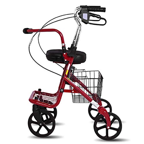 DGHJK Muletas, Ligero, Plegable, Ajustable, Tratamiento de conducción asistida para Caminar, Carrito Viejo Que se Puede Colocar sobre muletas Scooter Plegable Caminante Ligero