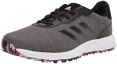 adidas mens Golf Shoe, Grey/Black/Scarlet, 10.5 US