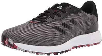 adidas mens Golf Shoe, Grey/Black/Scarlet, 11 US
