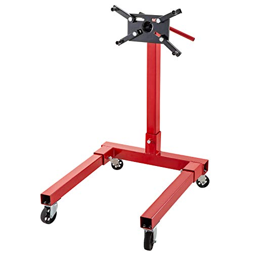 BestEquip Engine Stand 1250LBS Capacity Motor Stand Engine Hoist Rotating Automotive Tools in Heavy Duty Steel with 4 Iron Caster Wheels Maintenance Equipment for Auto Car Truck Jack
