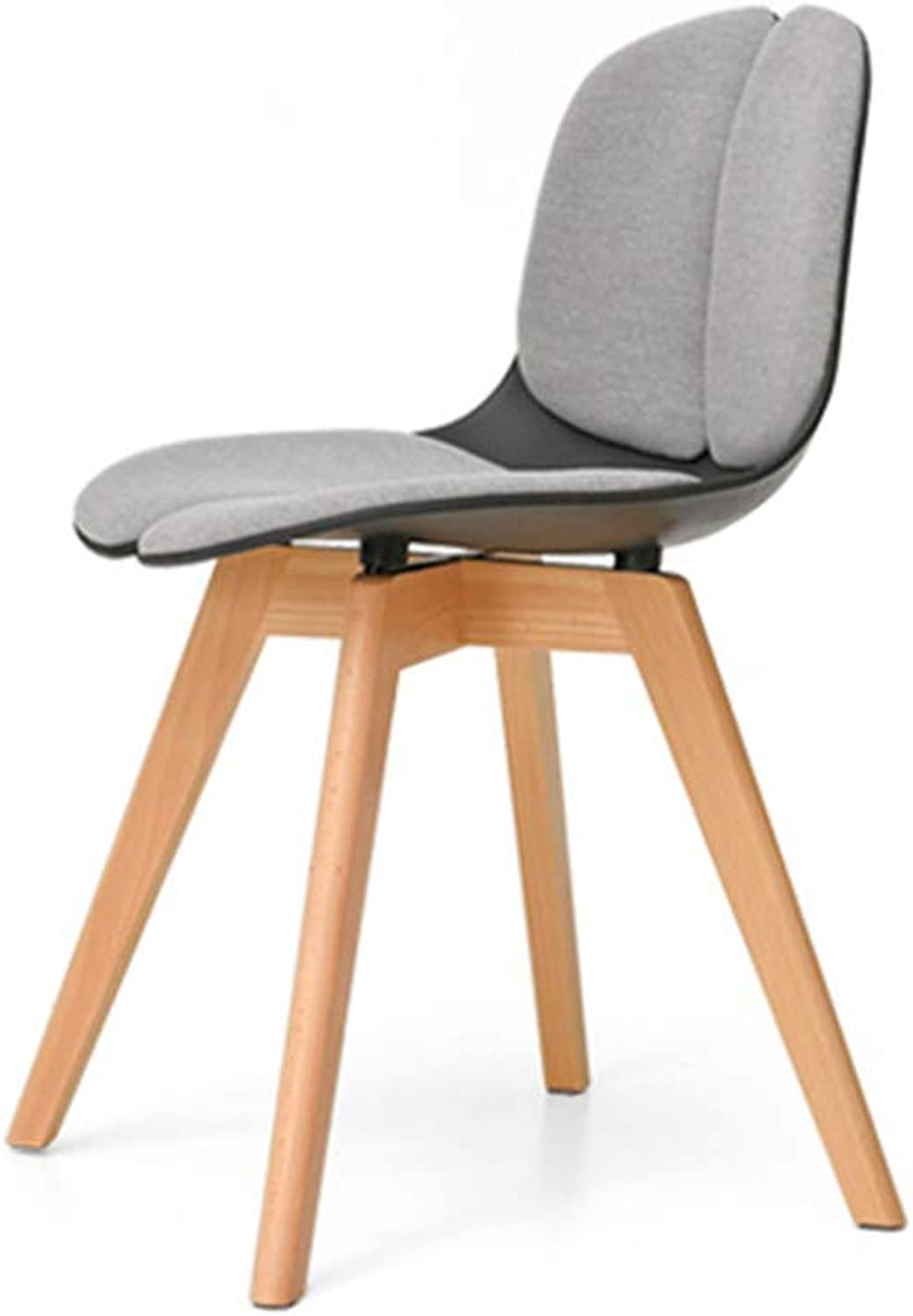 Dining Chairs Seat Chair Solid Solid Solid Wood Creative Household Leisure ZHANGAIZHEN (color   BLACK) a91210