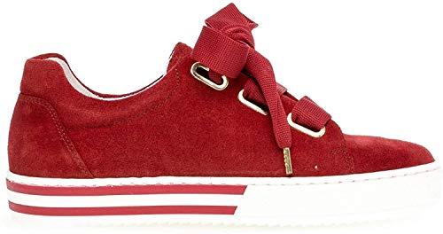 Gabor 26.505 Damen Sneaker,Skater Sneaker, Frauen,Sportschuh,Low-Top,Comfort-Mehrweite,Optifit- Wechselfußbett,red (Se.BW),6 UK