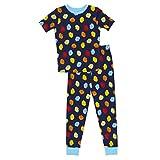 LEGO パジャマ ボーイズ クラシック 2ピース パジャマセット ブロック 綿100% プリント 半袖 トップス プリントロングパンツ ボーイズ サイズ4~8 US サイズ: 4 カラー: ブルー