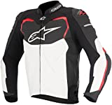 GP Pro Leather Sport Motorcycle / Motorbike Jacket - Black / Red (numeric_56)