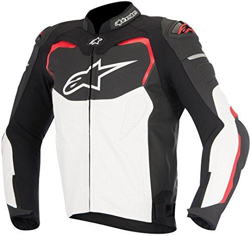 GP Pro Leather Sport Motorcycle / Motorbike Jacket - Black / Red (numeric_48)