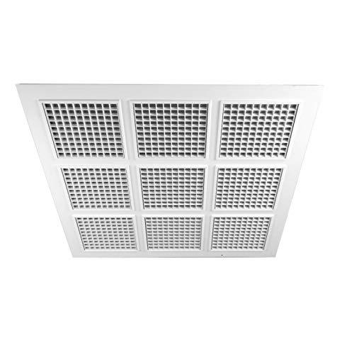 Deckenraster Rasterdecken Deckenlamellen Kassettendecke Abhängedecke Belüftung - VONLIS® Basic