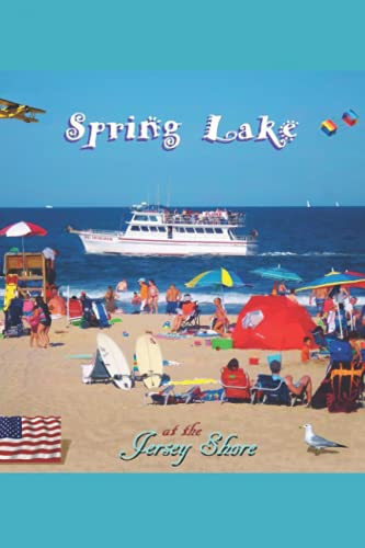 Spring Lake Notebook: Beach Nj - 110 Pages, In Lines, 6 x 9 Inches