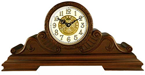 YEESEU Reloj de Mesa Relojes Familiares, Dormitorio de Madera Reloj en Marcha silenciosa Reloj de la Chimenea Decorativa Salón Comedor Reloj Adecuado for Vivir Oficina del Dormitorio del Sitio