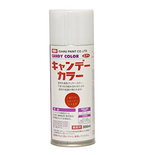 イサム キャンディーカラー エアゾール 300ml / 3486 シェンナー キャンディ ウレタン 塗料 スプレー オレンジ