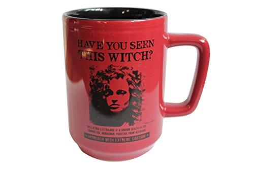 Harry Potter Bellatrix Wanted Lestrange taza de cerámica oficial Warner Bros, Studio Tour negro de Londres