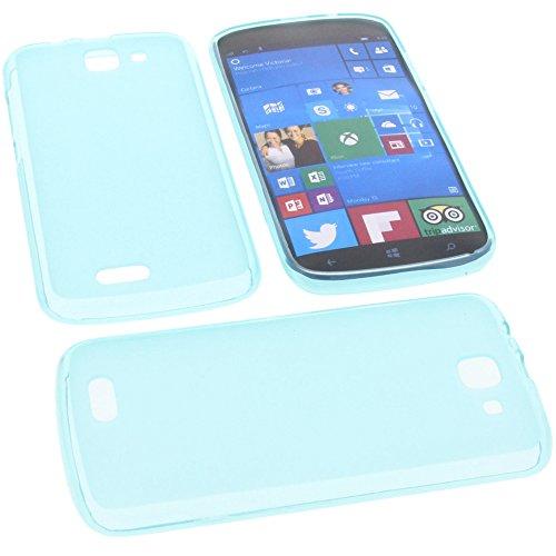foto-kontor Tasche für Archos 50 Cesium Gummi TPU Schutz Handytasche blau