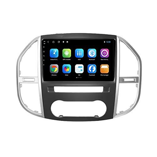 2 DIN Car Stereo Pantalla Táctil Radio De Coche Soporte Llamadas Manos Libres/FM/Navegación GPS/Cámara De Visión Trasera/1080P, para Mercedes Benz Vito Metris 2016-2019,Octa Core,4G WiFi 4+64