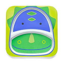 7. Skip Hop Zoo Dinosaur Baby Plate