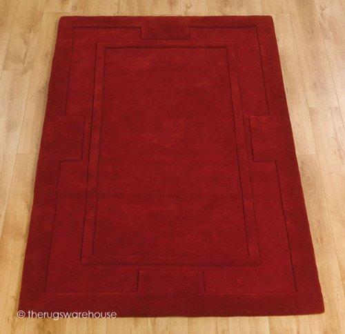 The Rugs Warehouse 'Sierra Apollo Hecha a Mano, Color Rojo, 100% Lana, 150x 75cm (2