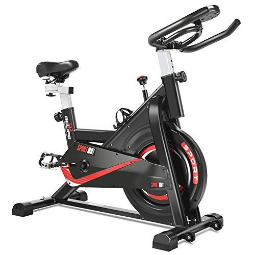 Bicicleta estática Bicicleta de ciclismo indoor Fitness Bicicleta estacionaria Todo incluido con resistencia Manillar ajustable y asiento Gimnasio Gimnasio Máquinas de entrenamiento en casa Entrenam