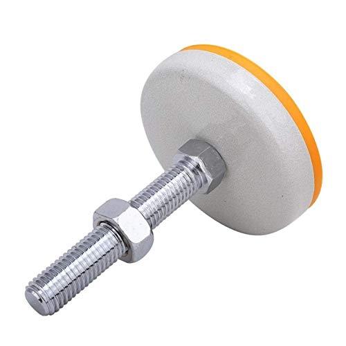 JXJ Ruedas para Muebles TPU Base de pie antichoque Copa Altura Ajustable Mecánico Soporte para Muebles Pierna 8.8 Grado M18 Tornillo 100 mm Durable