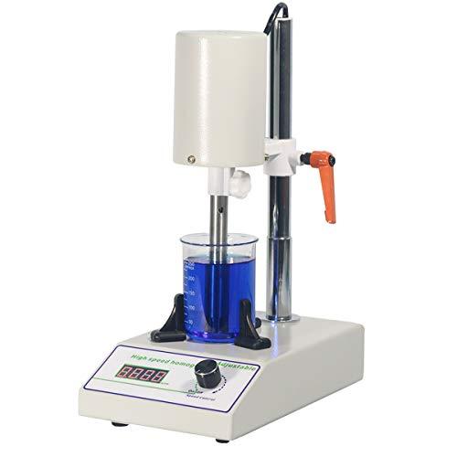 MXBAOHENG High Speed Homogenizer Lab Disperser Emulsifier 5~1000ml Speed Adjustable 6000~22000rpm w/ 2 Working Heads FSH-2A Updated Version (110V)