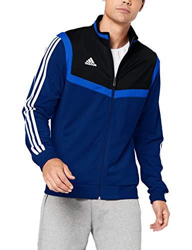 adidas Tiro 19 P TK, Giacca della Tuta Uomo, Blu (Dark Blue/White), M