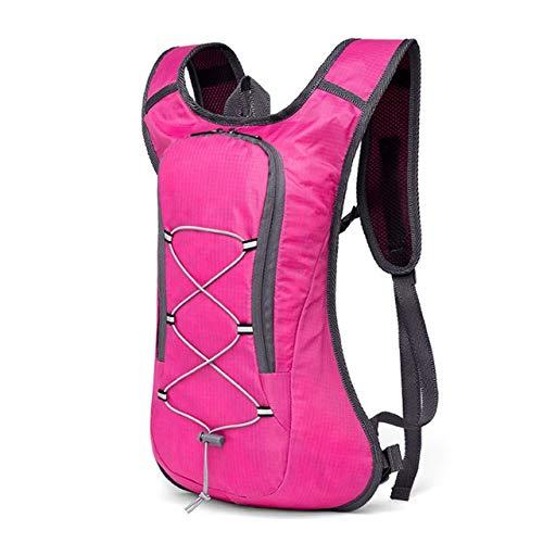 8L Respirante Ultraléger vélo Sac à Dos Sac randonnée à vélo Sac à Dos Sac 2L d'eau de vélo de vélo Sac à vélo (Color : Pink Only Bag)