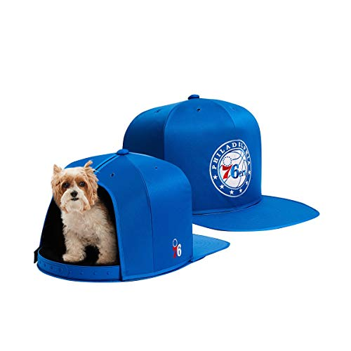 NAP CAP NBA Philadelphia 76ers Team Branded Indoor Pet Bed, Blue (Medium)