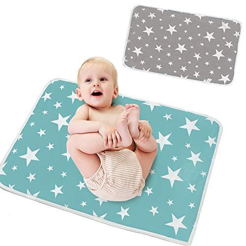 HyAiderTech Bambino Pannolini Tappetino per Cambiare il Pannolino del Bebè, Fasciatoio Baby Riutilizzabile, per il Fasciatoio e il Cambio del Pannolino, Lavabile e Impermeabile (Type 5)