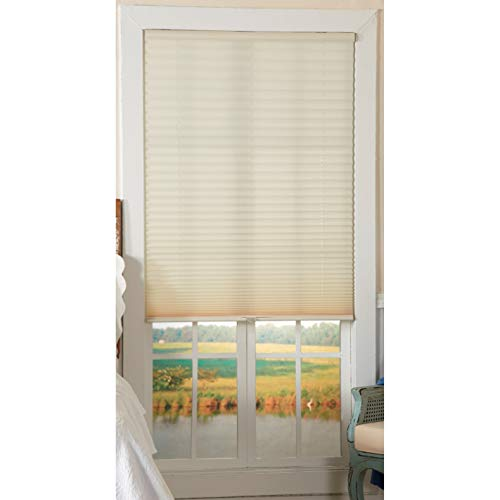 All Strong, USA Light-Filtering Ivory Cordless Pleated Shades 30 x 64