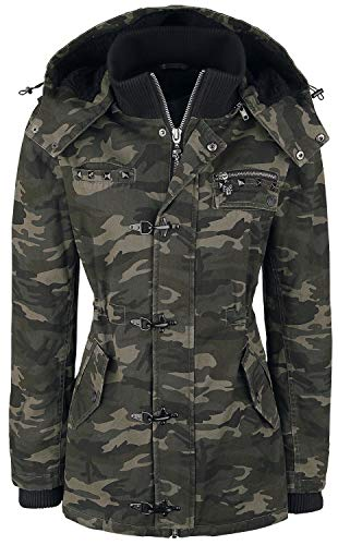 Rock Rebel by EMP She Rules Frauen Winterjacke Camouflage XXL 100% Baumwolle Basics, Rockwear