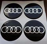 kaixin 4x60mm Volvo Negro Azul Ruedas centrales Tapas con Logotipo Emblema Insignia Tapas de Cubo Tapas de Borde