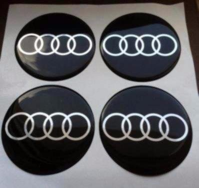 4 Stück 55mm Aufkleber Emblem für Felgen Nabendeckel Radkappen